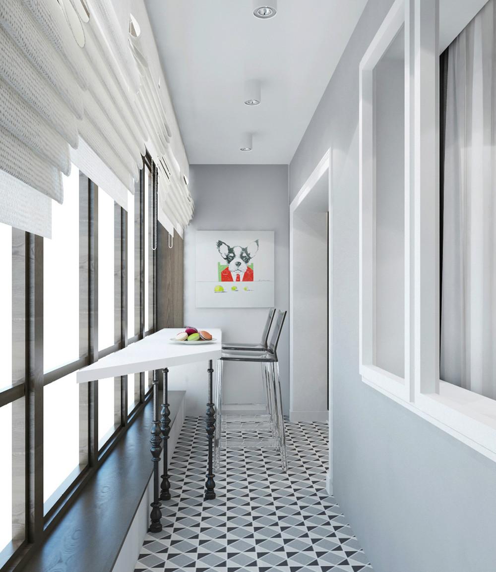 Метлахская плитка на балконе
