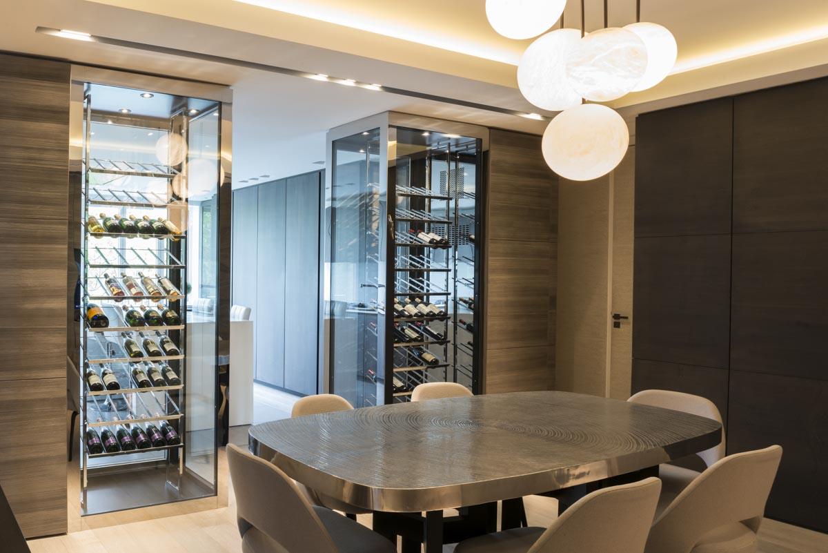 Перегородка с баром между кухней и гостиной