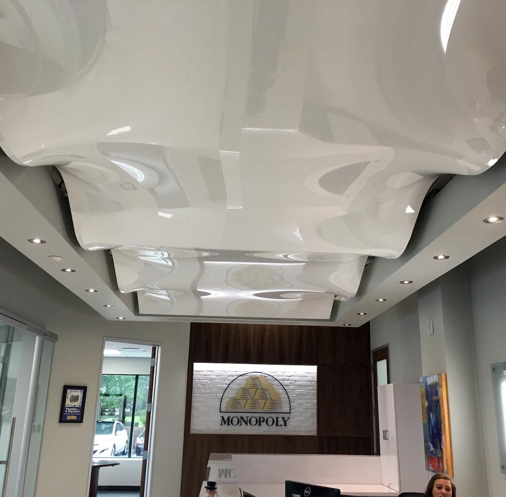 Белый 3d-потолок