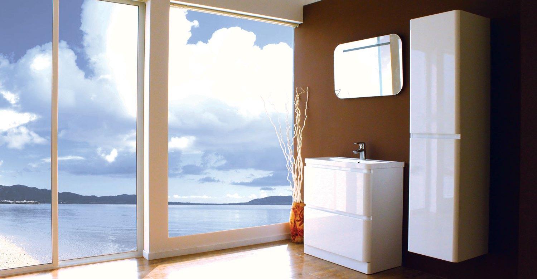 Белый пенал для ванной