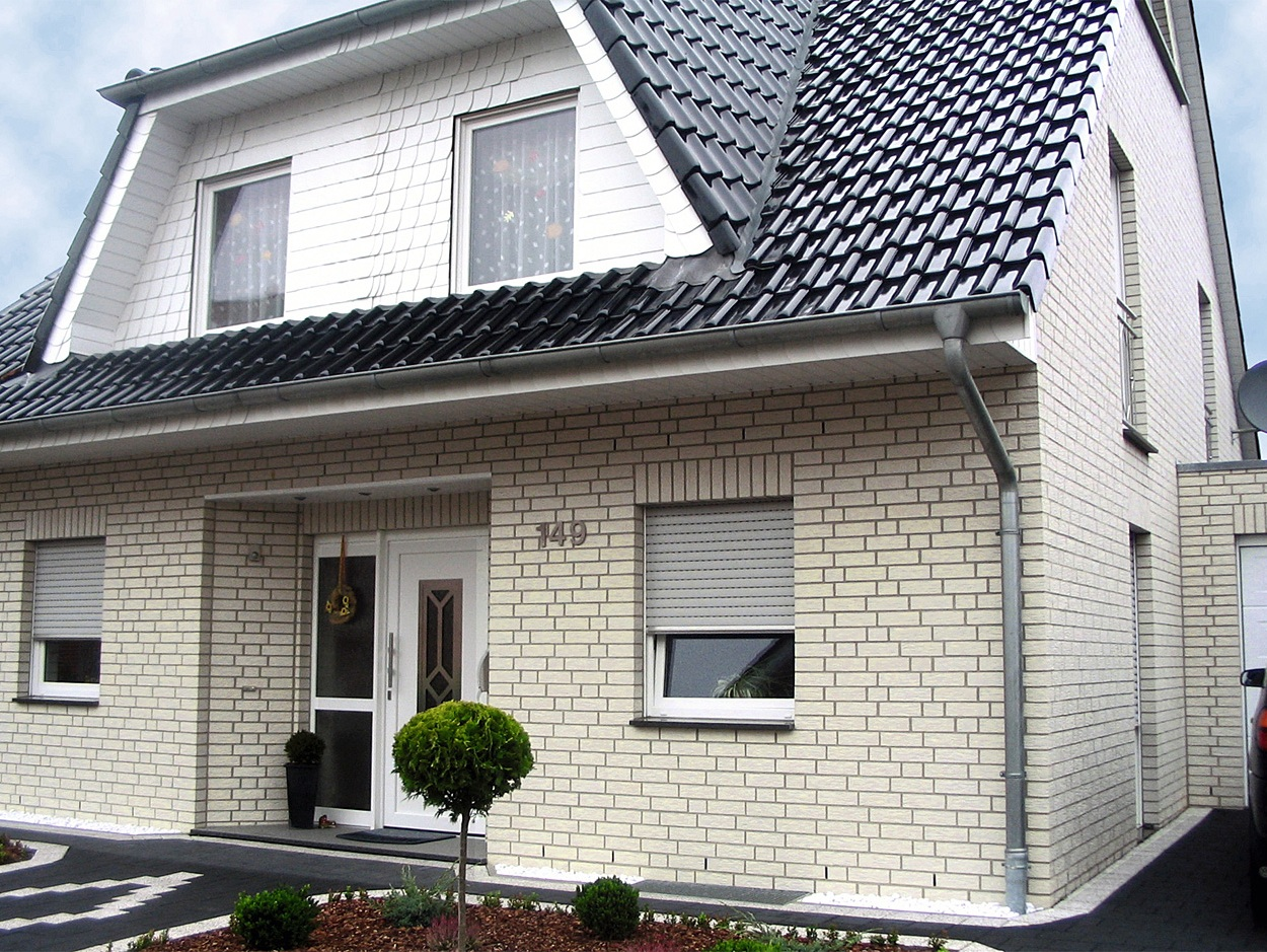 Фасадные панели под белый кирпич