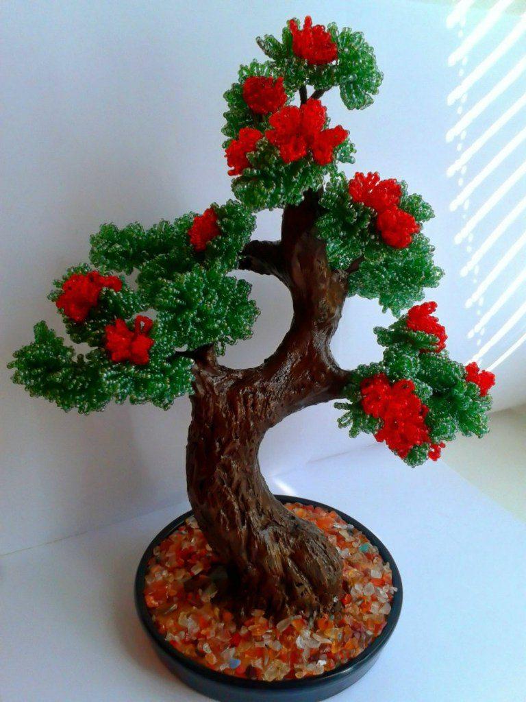 Дерево-бонсай из бисера