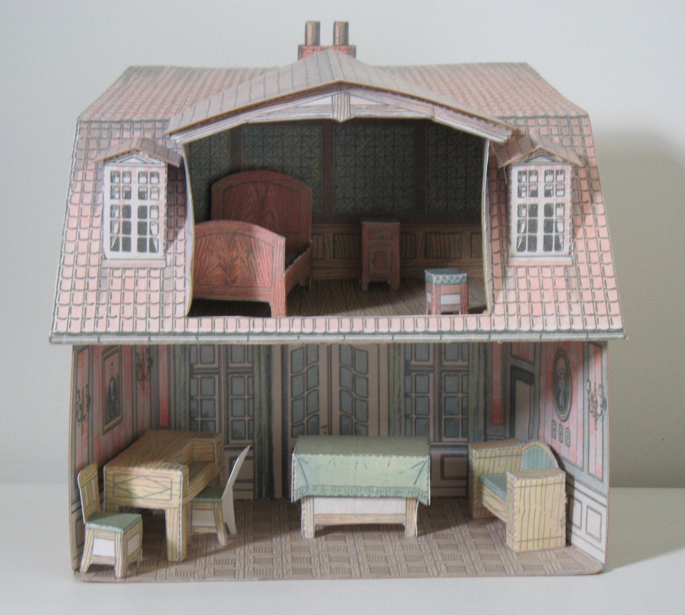 Мебель для кукольного домика из бумаги