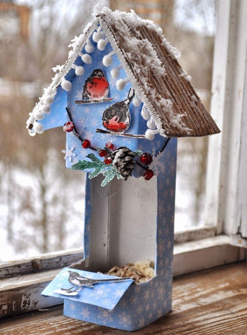 Кормушка для птиц из бумаги
