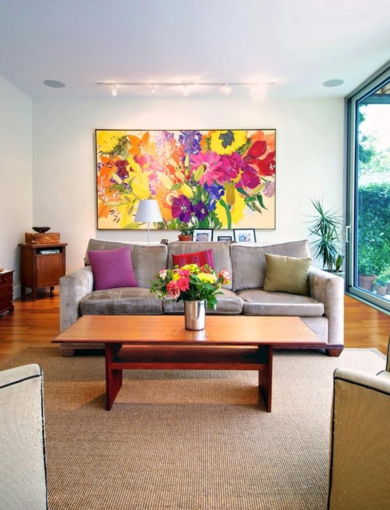 Панорамная картина в интерьере частного дома