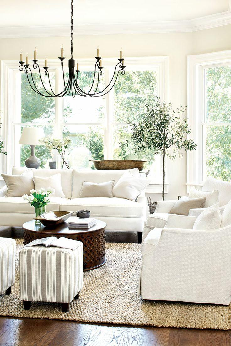 Белый чехол на диван