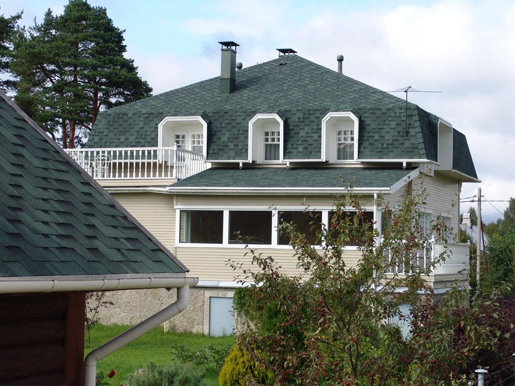Черепичная крыша с мансардой