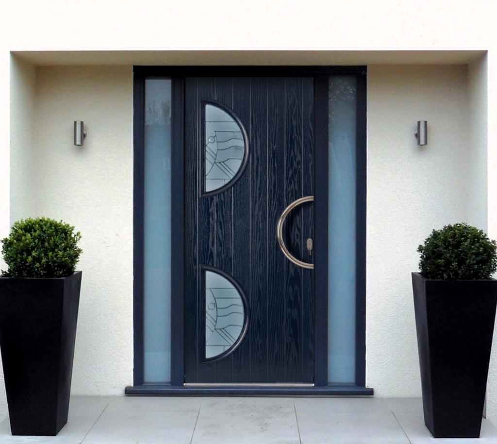 Дверь из черного палисандра