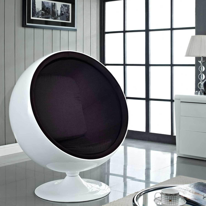 Кресло-шар черного цвета