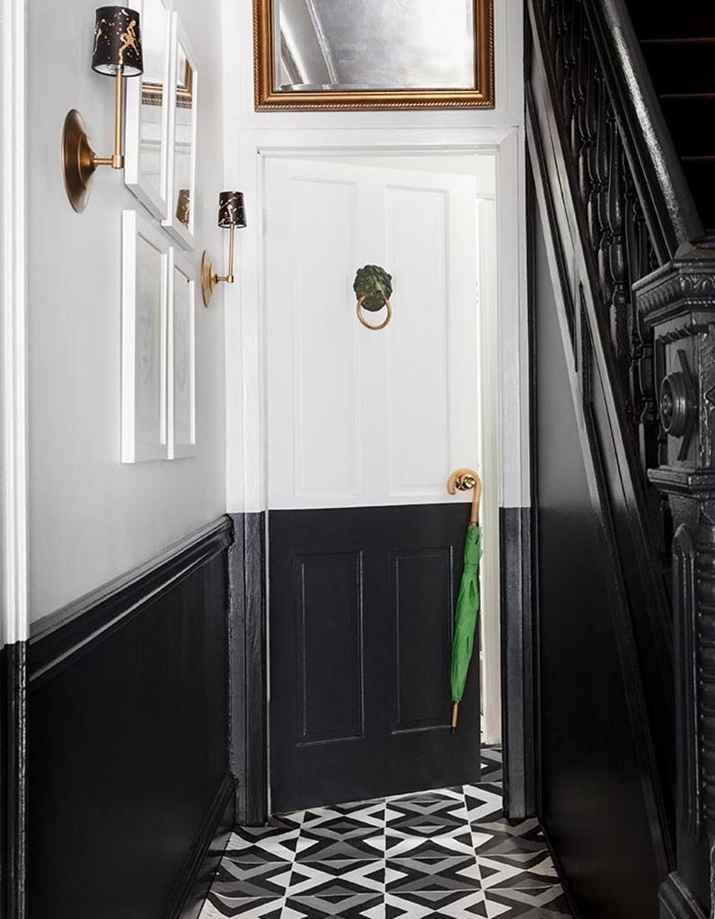 Стеновые панели для коридора черные