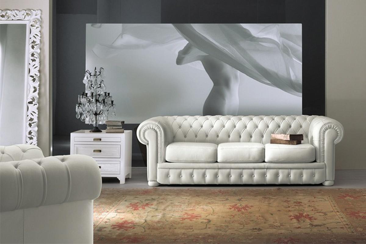 Белый диван Честер