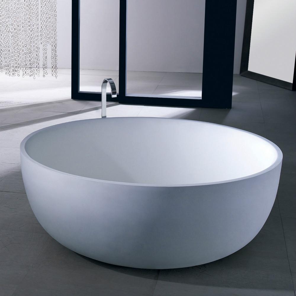 Круглая чугунная ванна