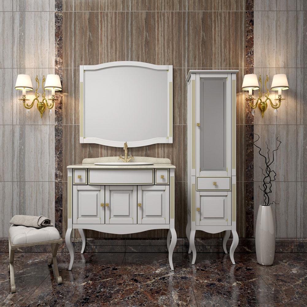 Пенал для ванной в классическом стиле