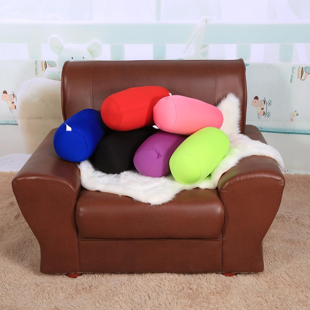 Подушка валик цветная