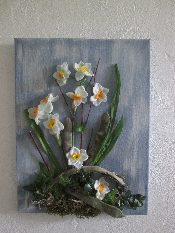 Объемная картина с цветами