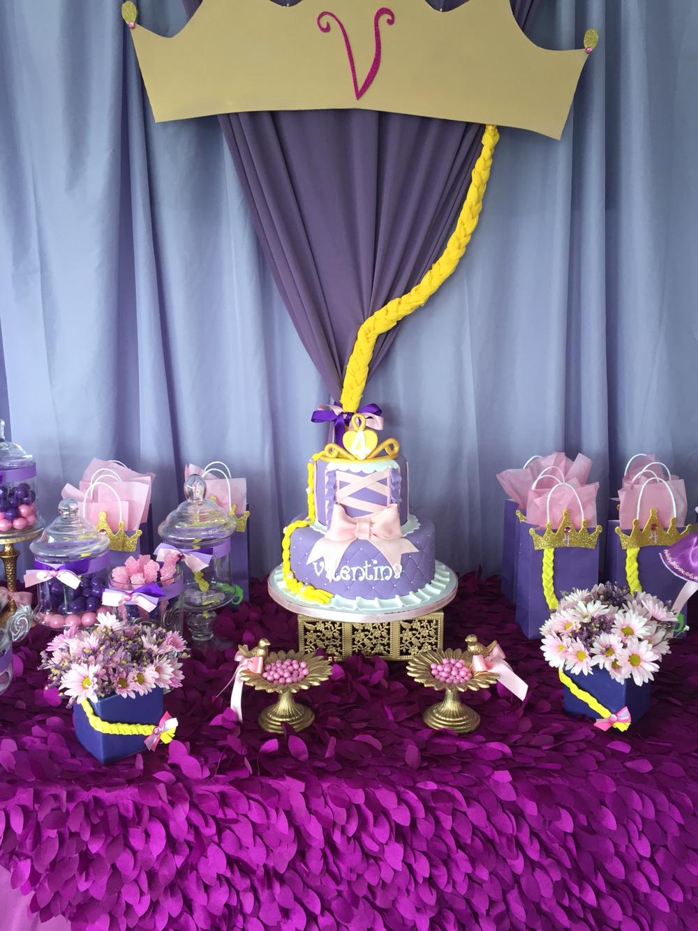 Украшение детского праздничного стола цветами