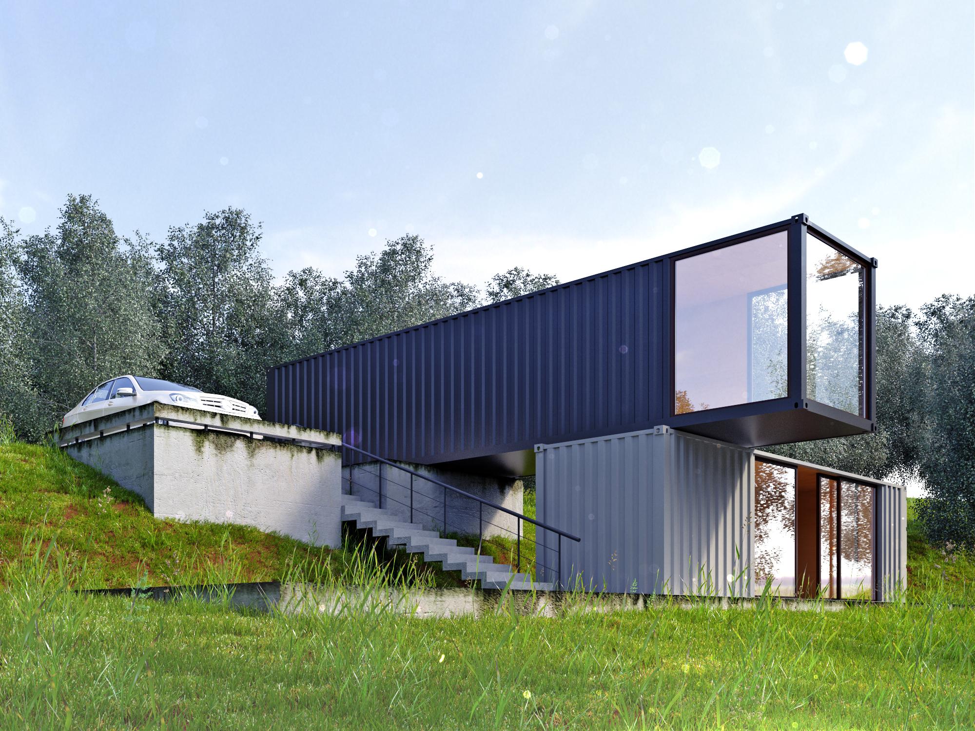 Дачный дом из контейнеров