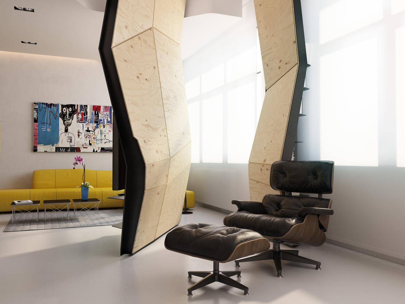 Декоративная перегородка в интерьере квартиры