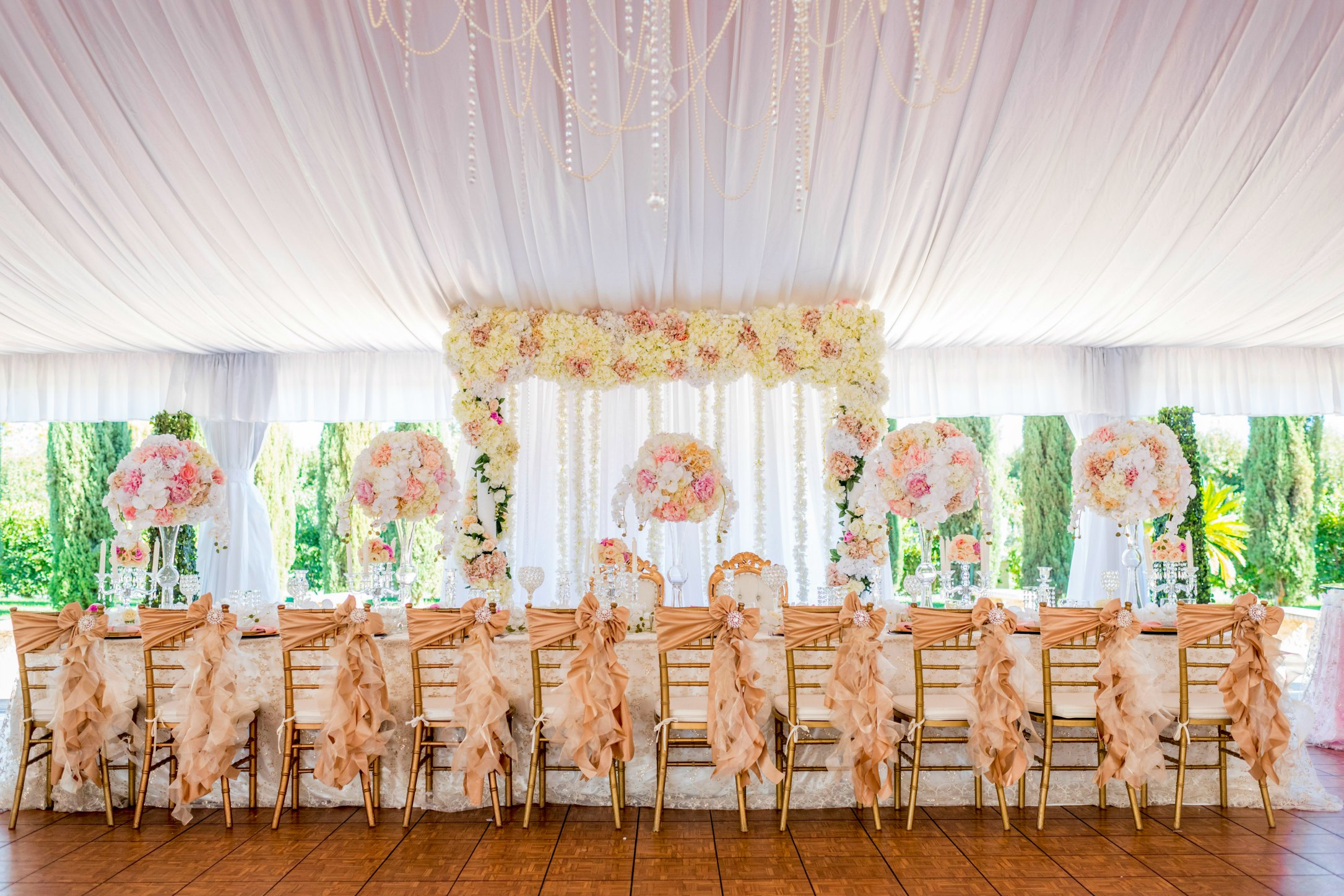 Свадебный декор тканью