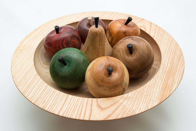 Деревянная чаша для фруктов