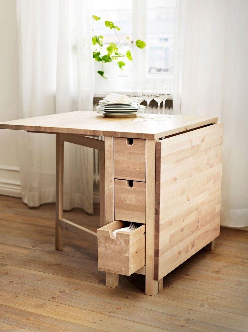 Откидной стол деревянный