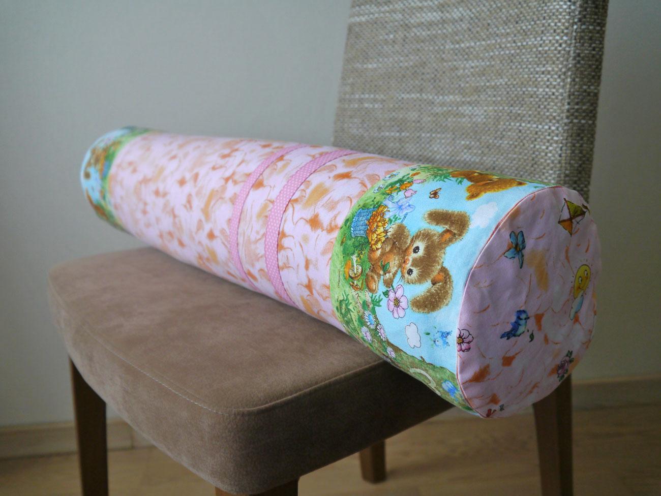 Детская подушка-валик