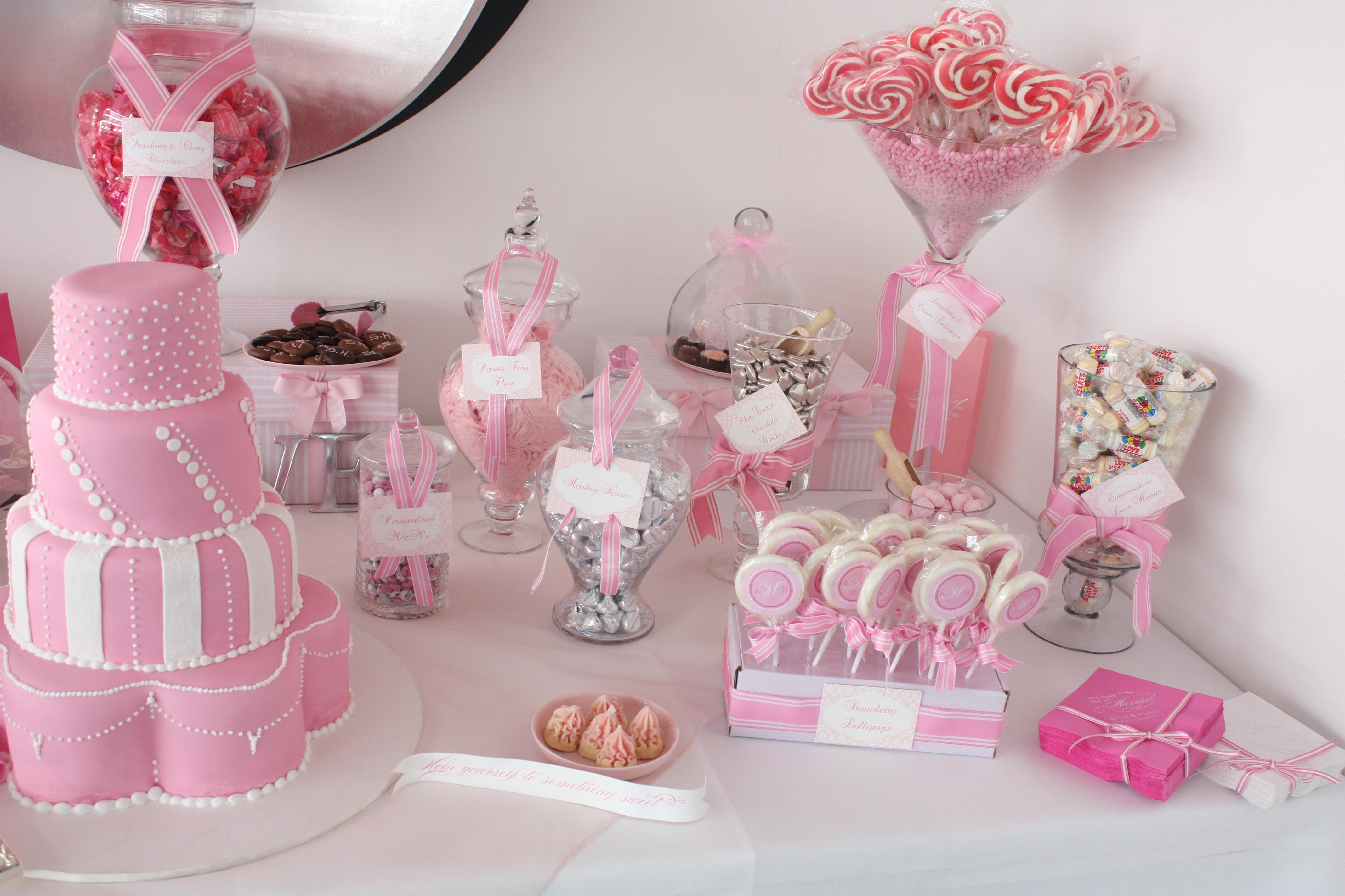 Украшение детского праздничного стола для девочки