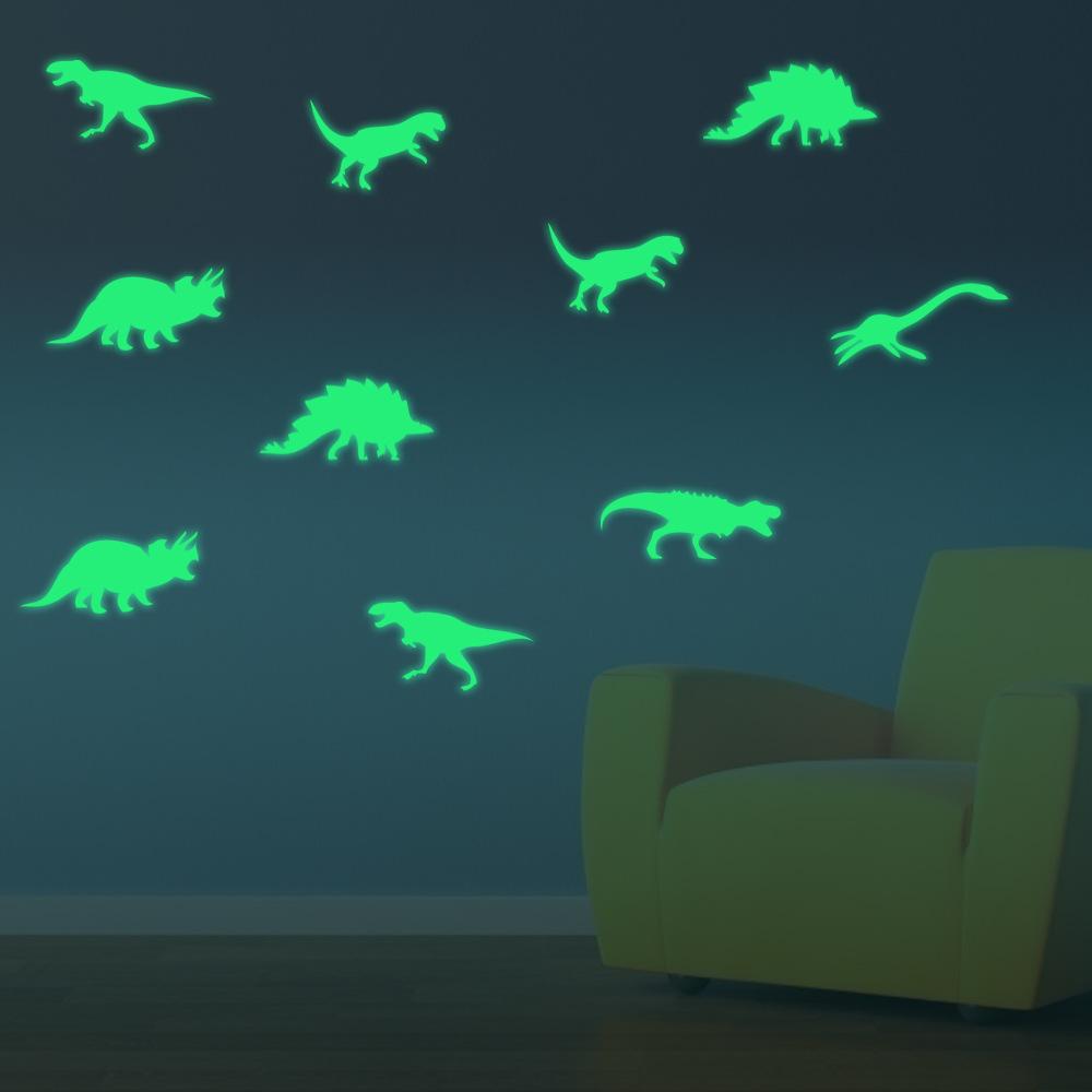 Светящиеся обои с динозаврами
