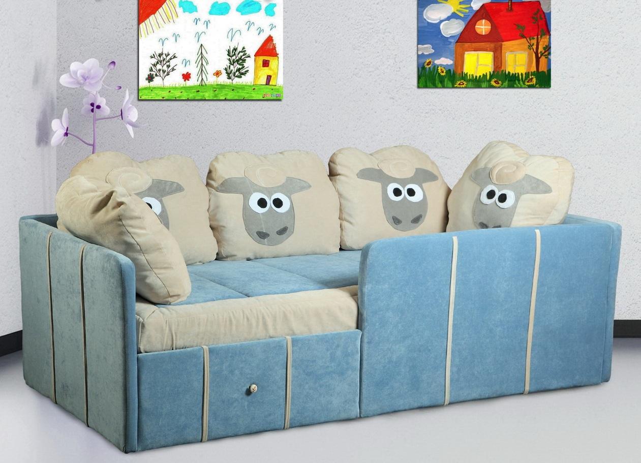 Детский диван-кровать с бортиками