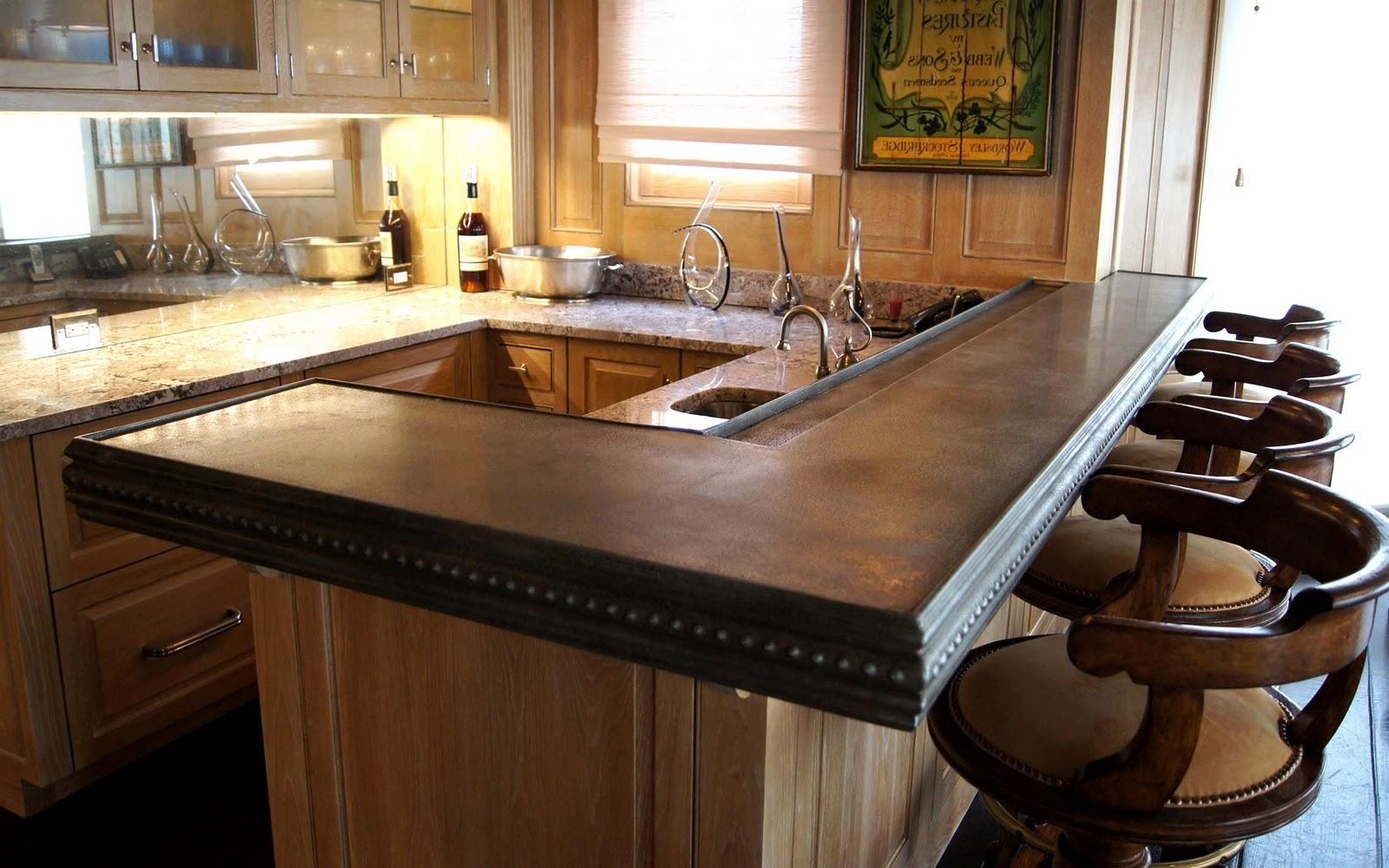 Кухонный гарнитур с барной стойкой в доме