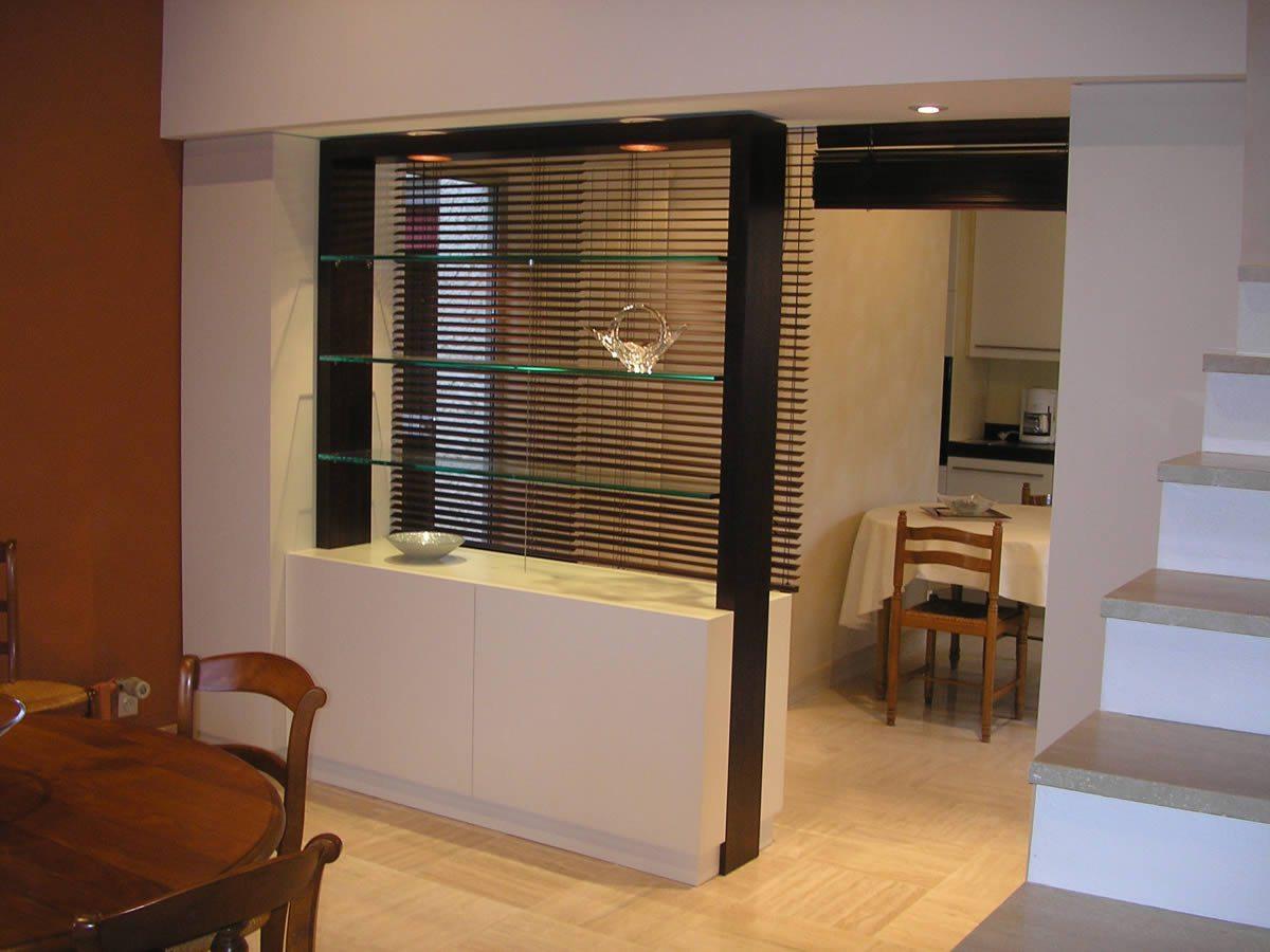 Перегородка между кухней и гостиной в доме
