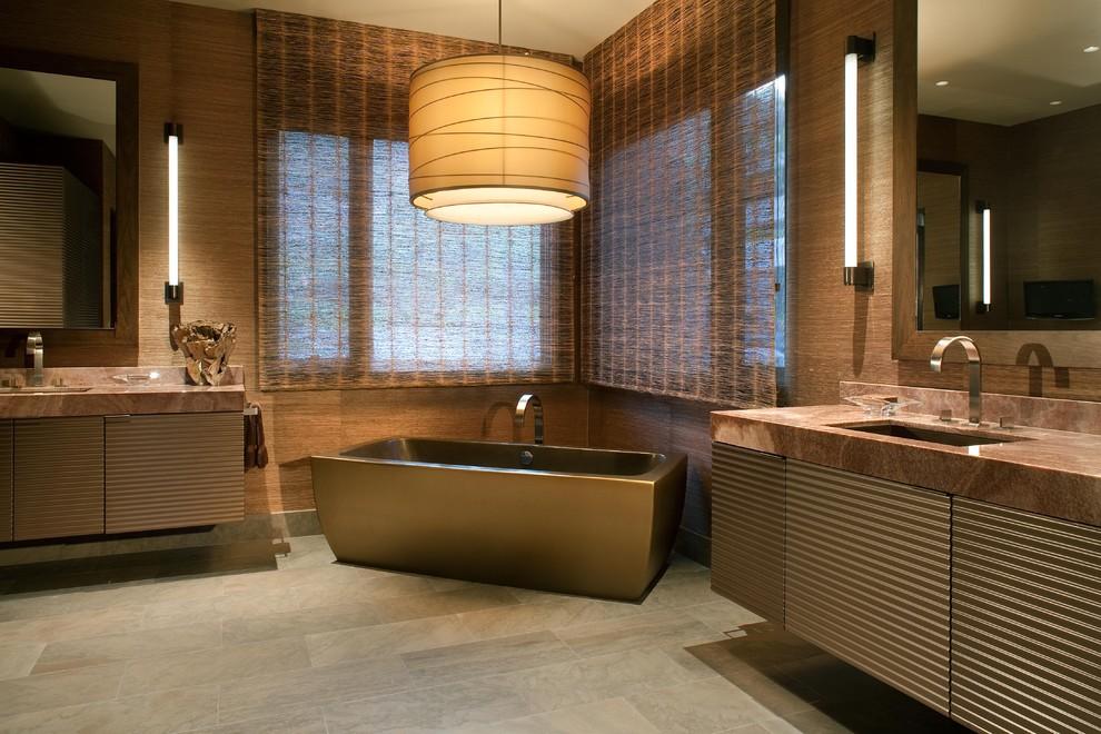 Стальная ванна в стиле эко
