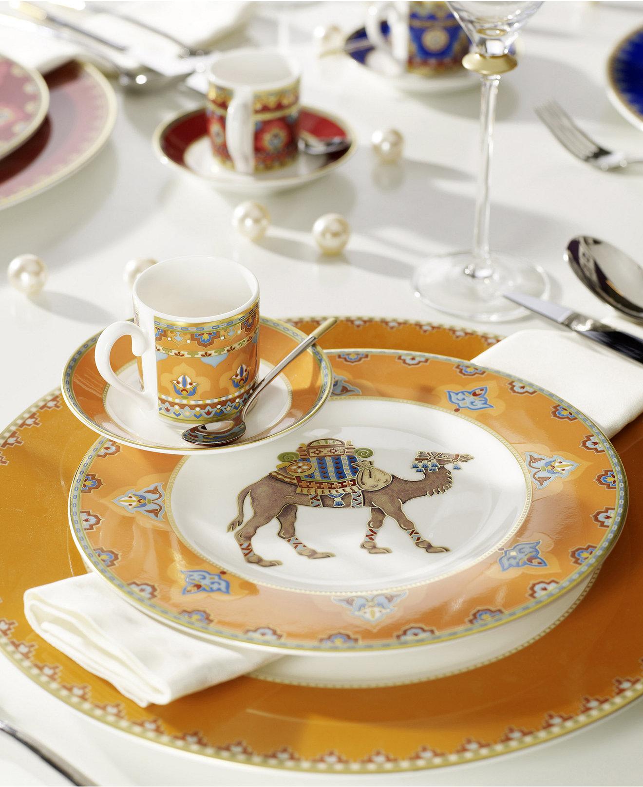 Фарфоровая посуда в этническом стиле