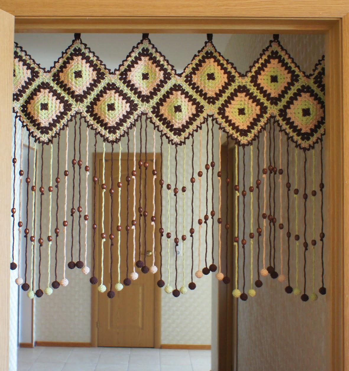 Межкомнатные шторы в стиле этно