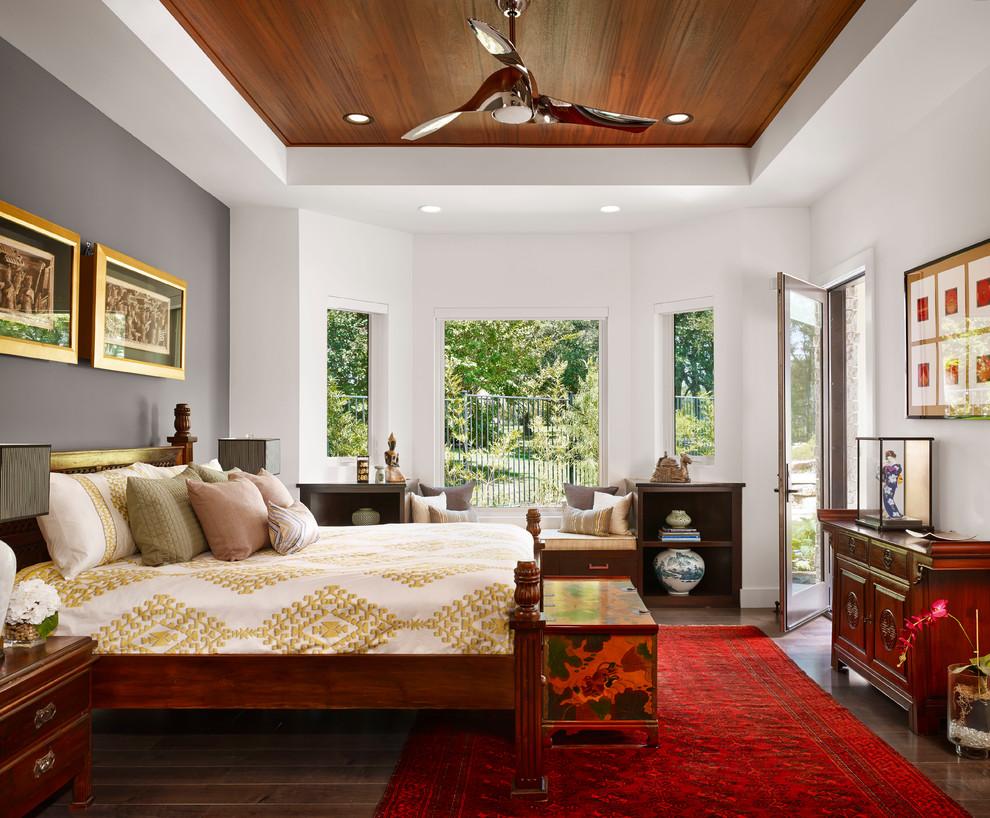 Ламинат на потолке в стиле этно