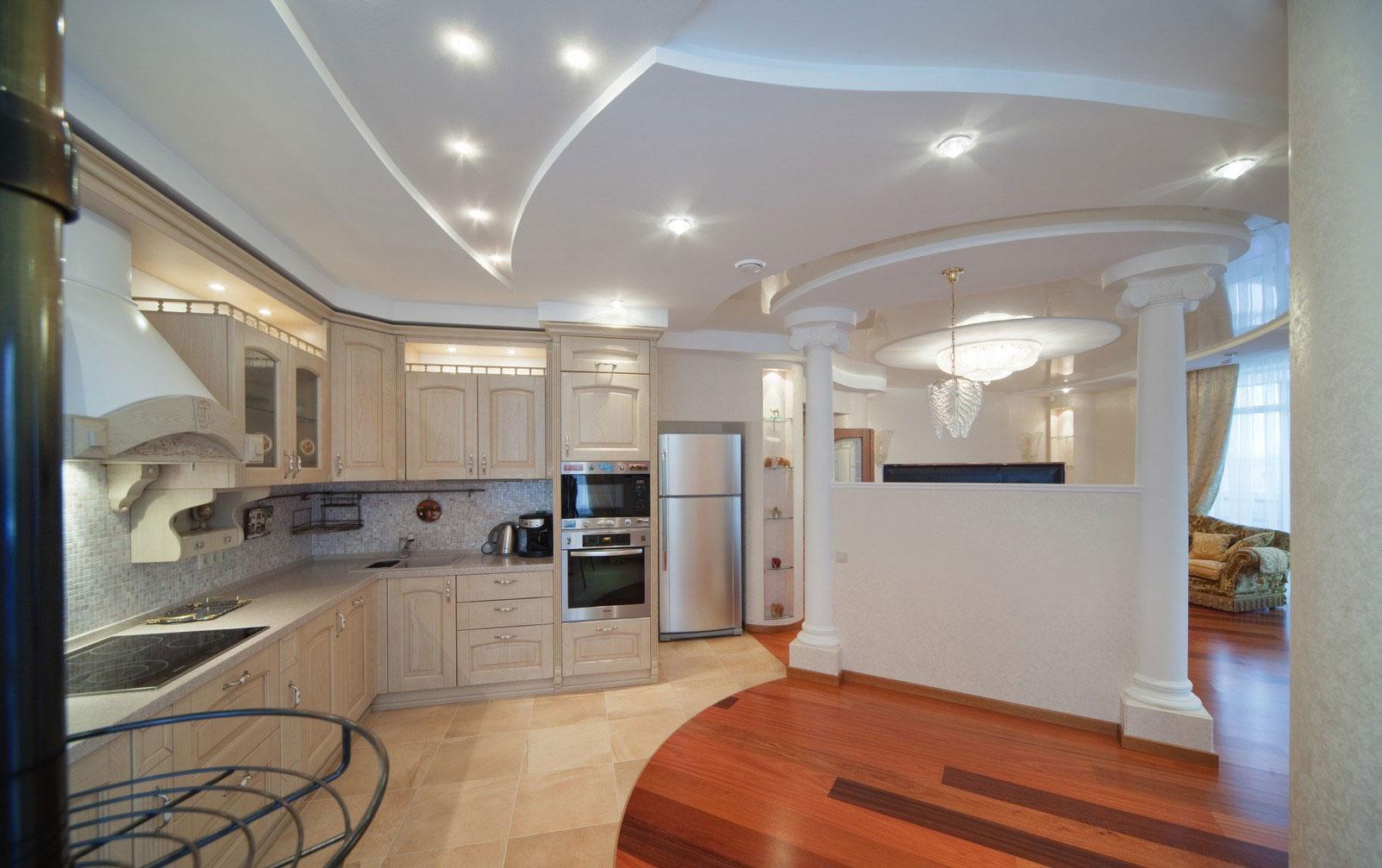 Фальш-стена на кухне