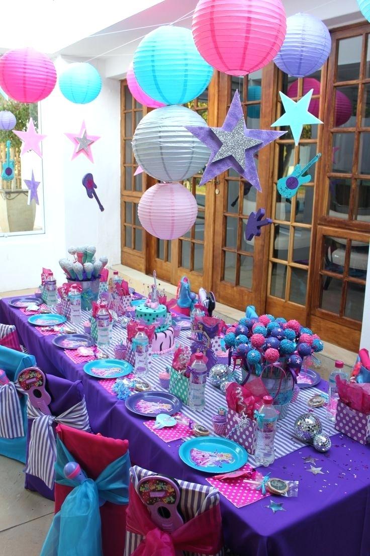 Украшение детского праздничного стола в фиолетовом цвете