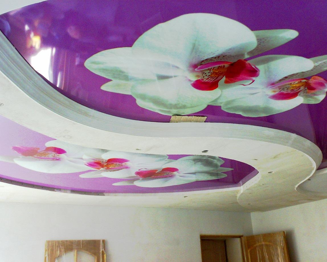3d-потолок с печатью