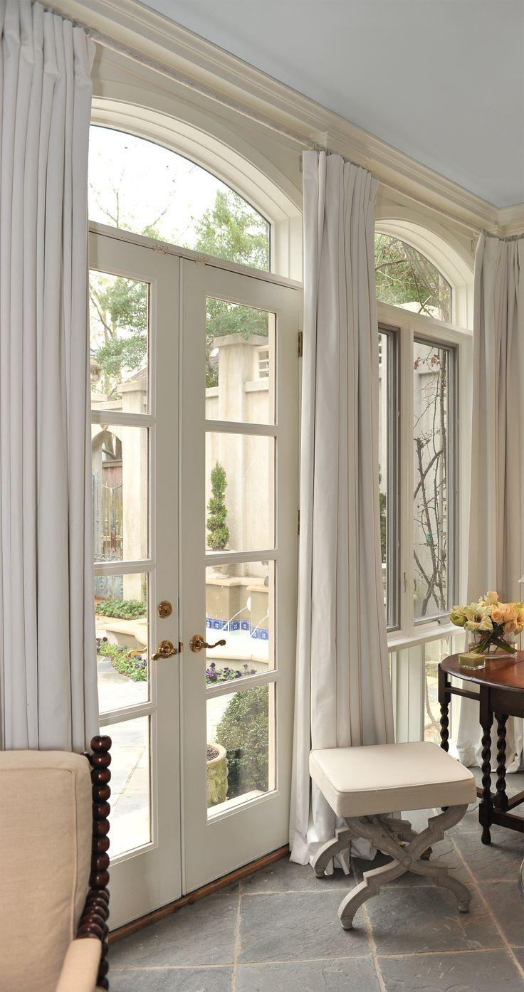 Шторы на французском окне