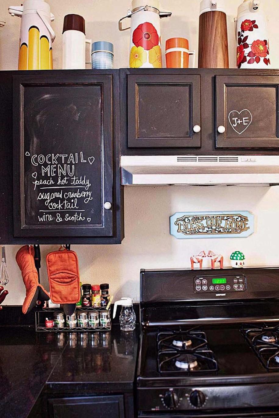 Меловое покрытие на кухонном гарнитуре