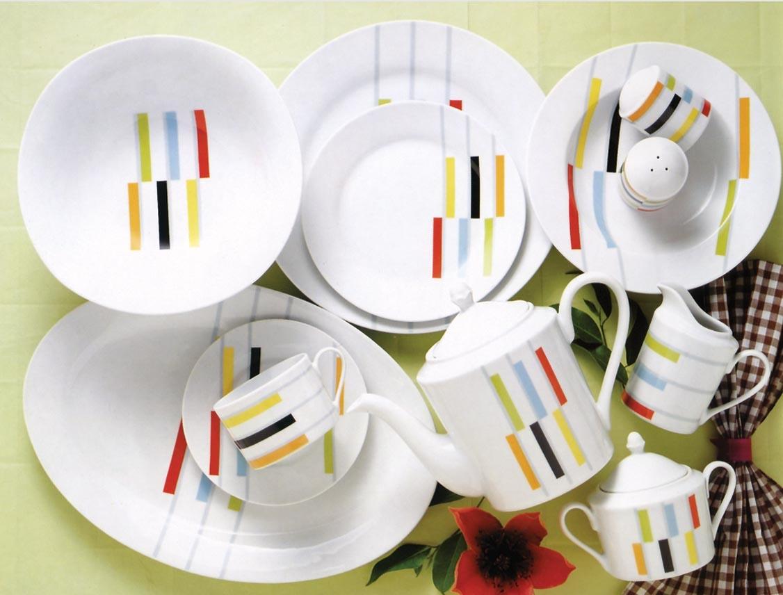 Геометрический дизайн посуды