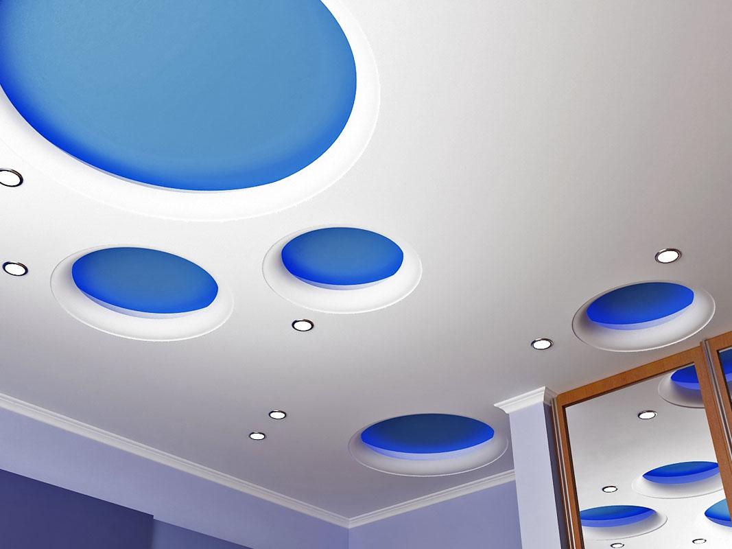 3d-потолок из гипсокартона