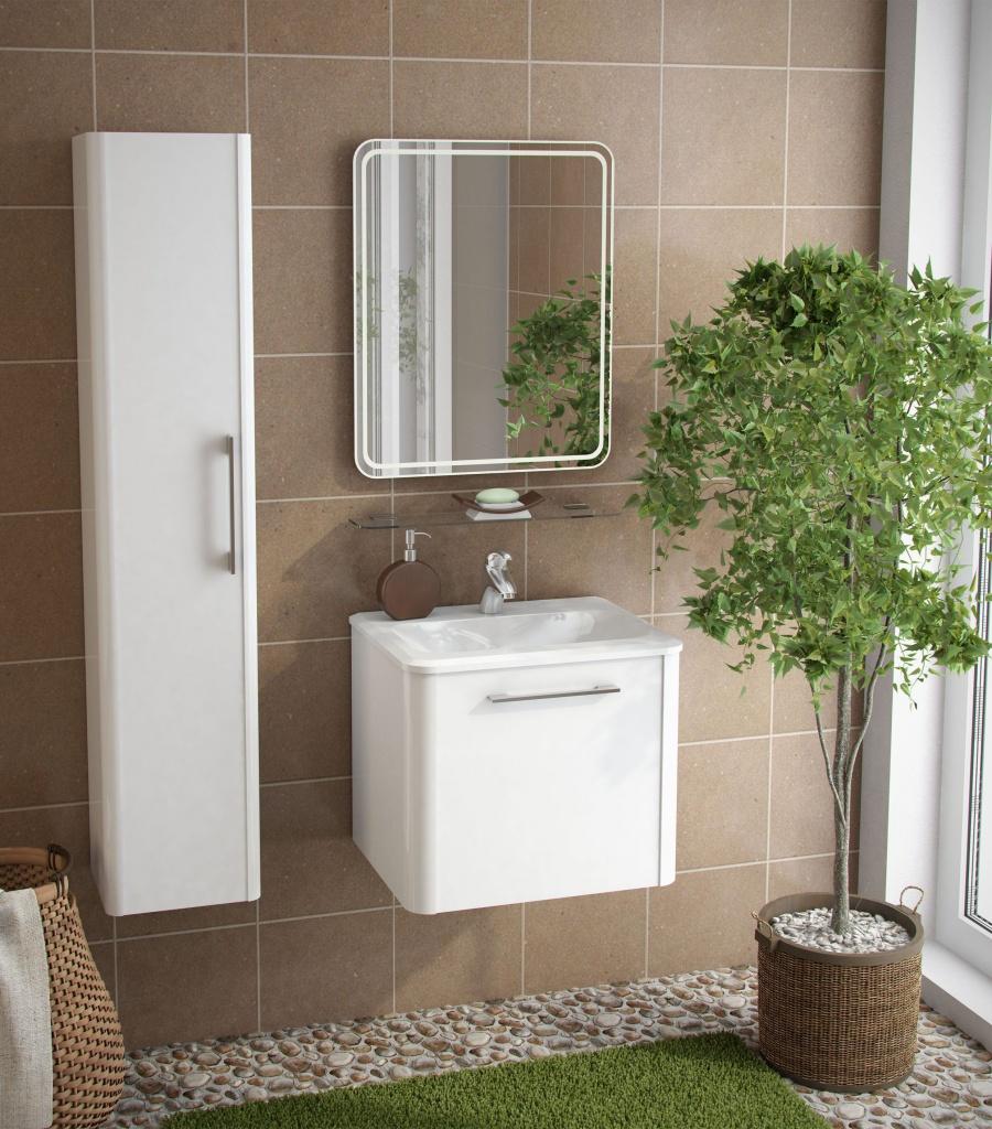 Глянцевый пенал для ванной