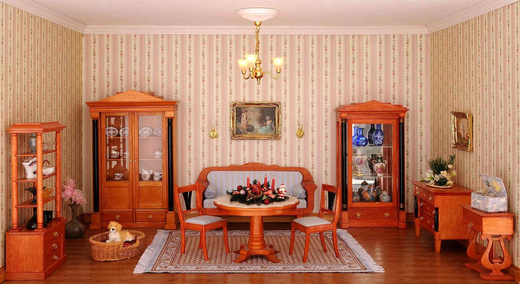 Интерьер гостиной в стиле бидермейер