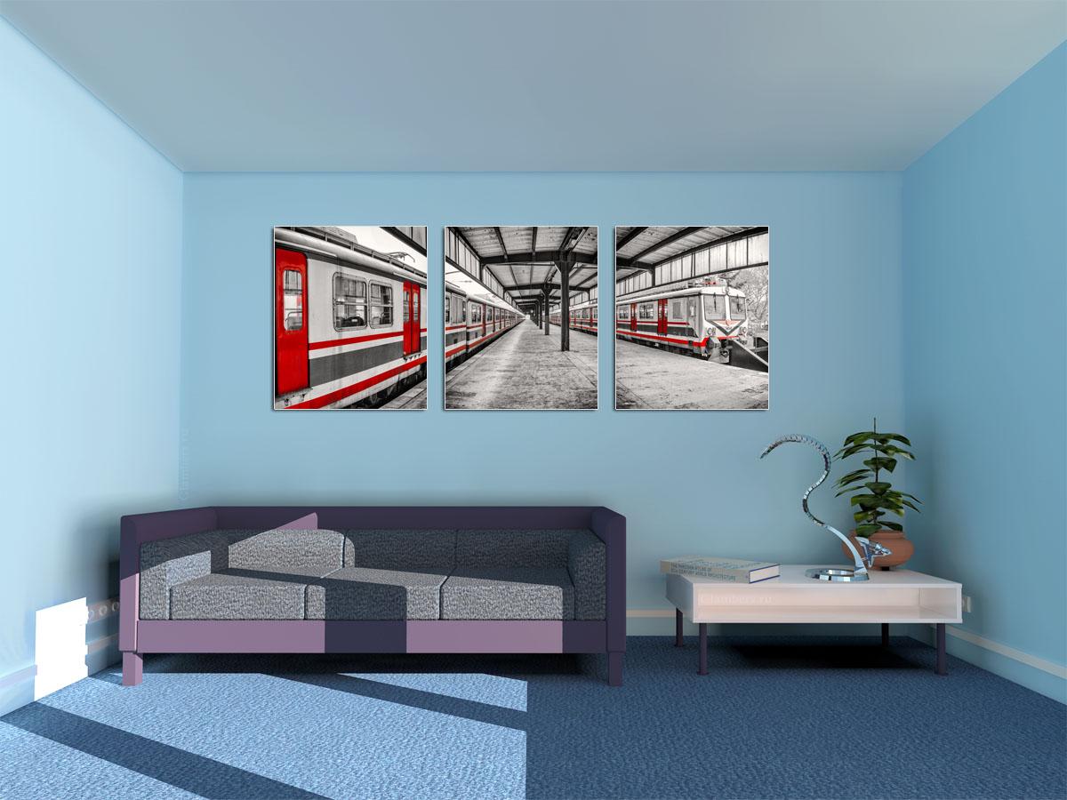 Панорамная картина в гостиной