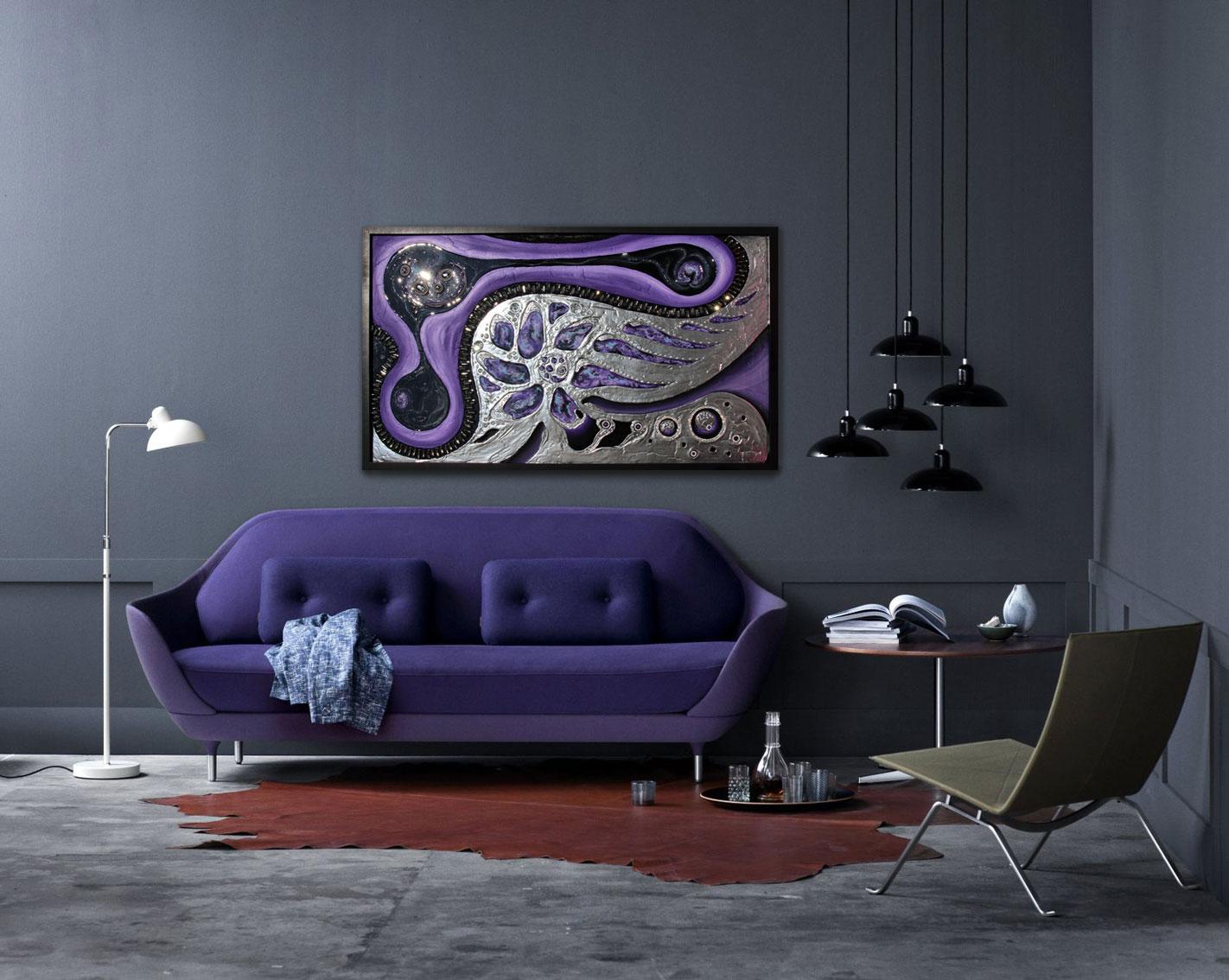 Объемная картина в гостиной