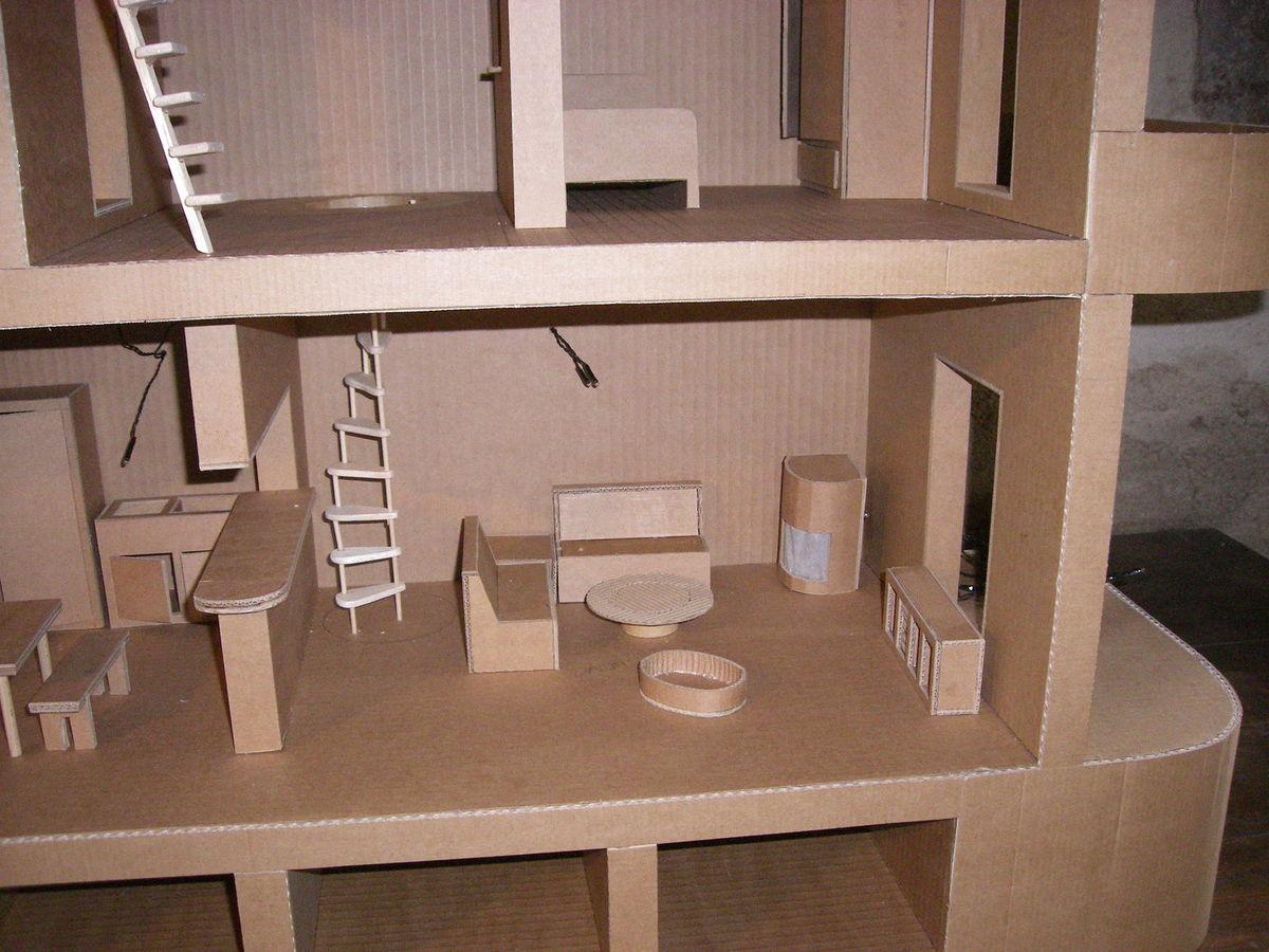 Мебель из картона игрушечная для гостиной