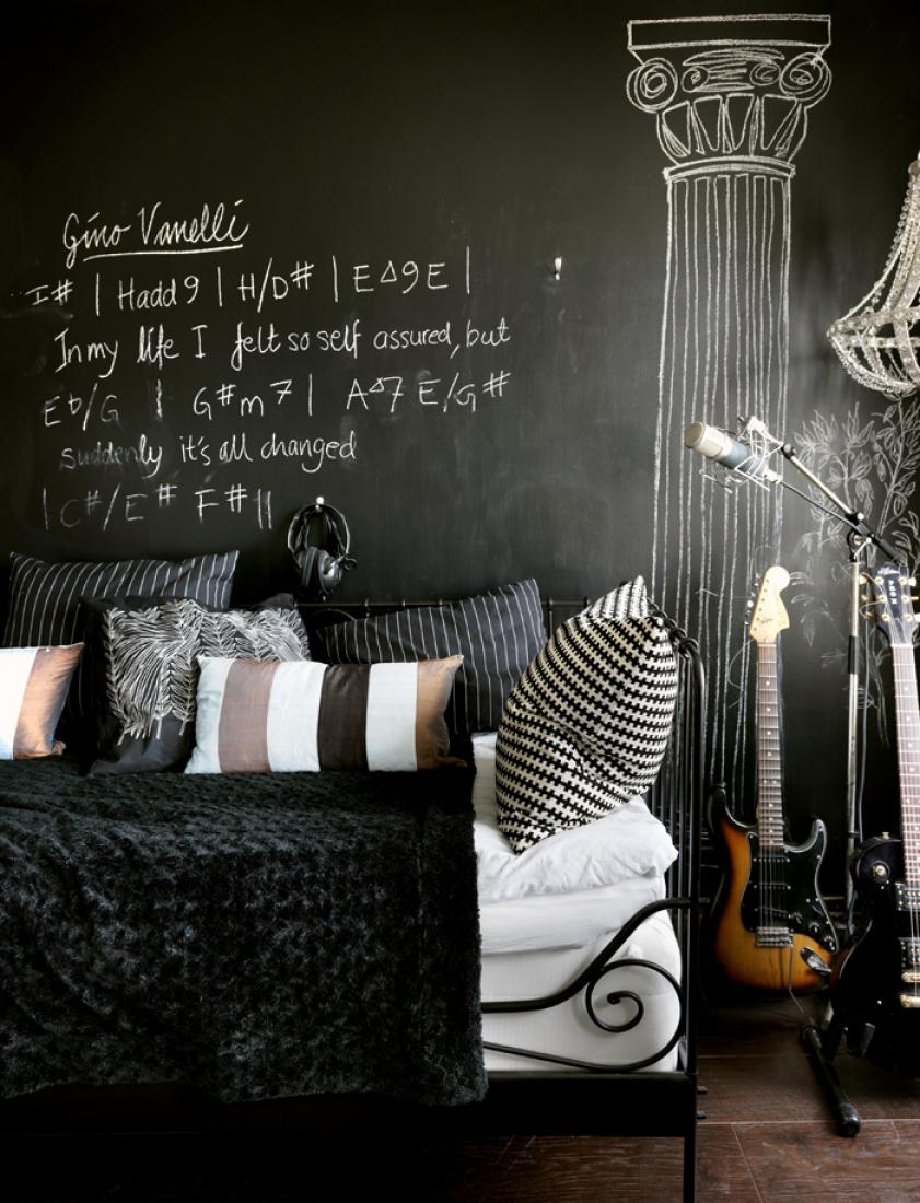 Грифельная доска в спальне