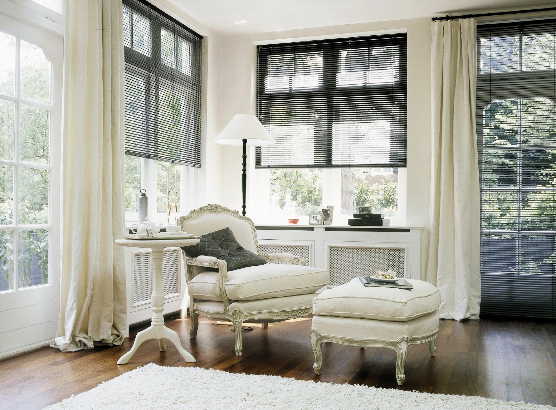 Белые шторы из хлопка
