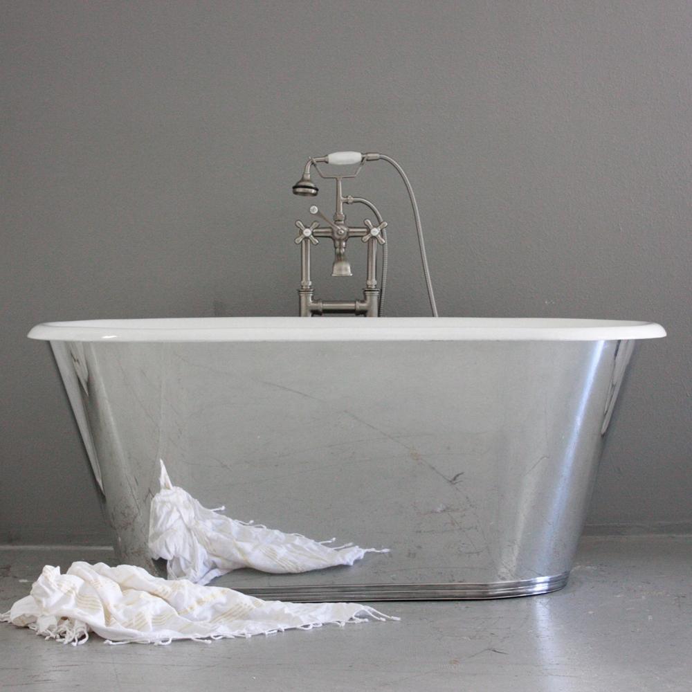 Хромированная стальная ванна